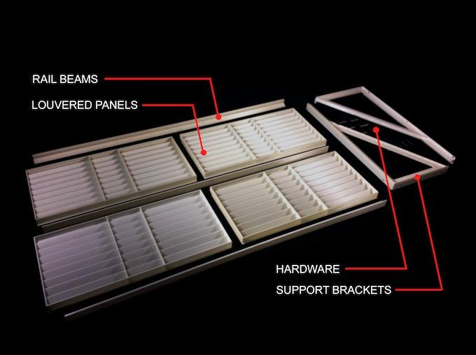 Sun Petal Modular Shading System's Kit of Parts