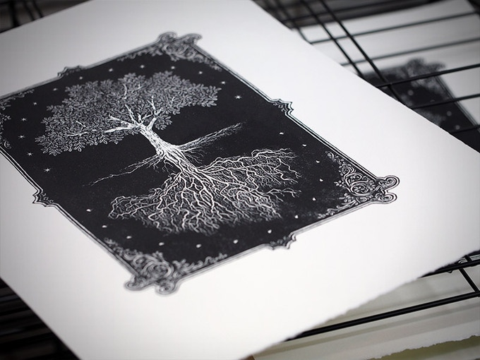 The finished hand-pulled print