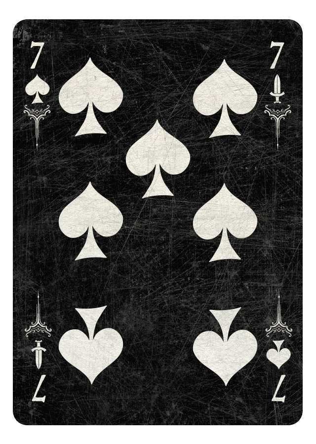 7 of Spades/Swords dark