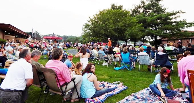 A large crowd on our lawn, just the way we like it!