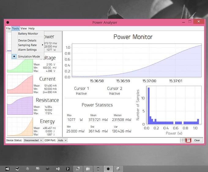 Desktop Application Simulation Mode
