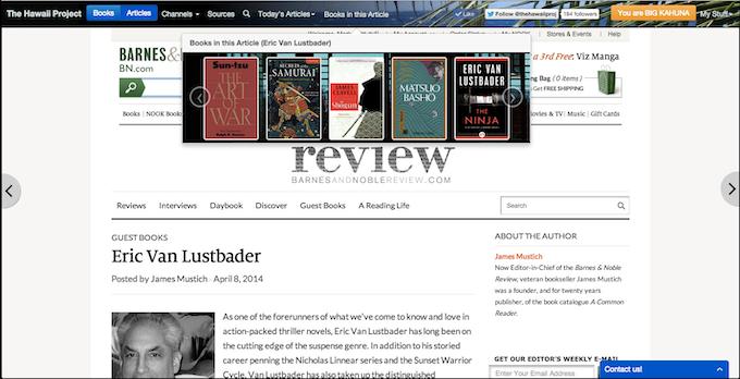 Eric Van Lustbader's favorite Samurai / Ninja books
