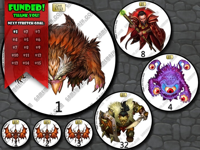 Monster Miniature Tokens For All Genres By Game Mash By David Dixon