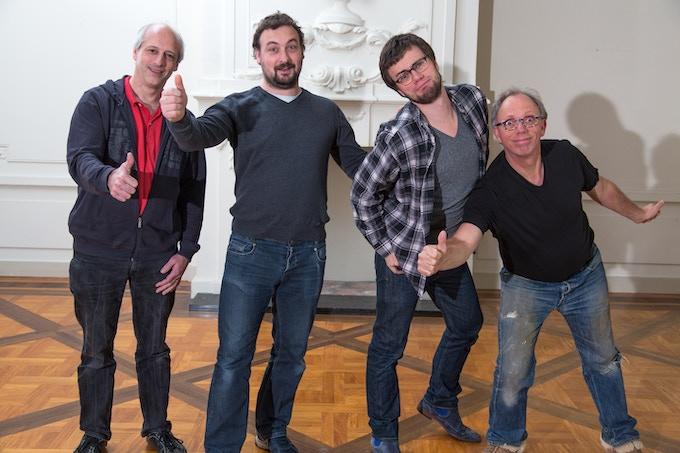Matthijs, Marcel, Joep en Abraham