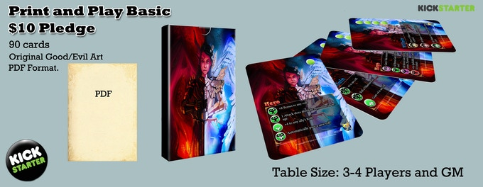 The print and play basic set mailed to you as soon as the cards are done.