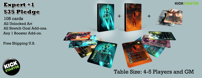 Expert +1 - Expert Set + Any 1 18 card booster of any type. Good for 4-5 players.