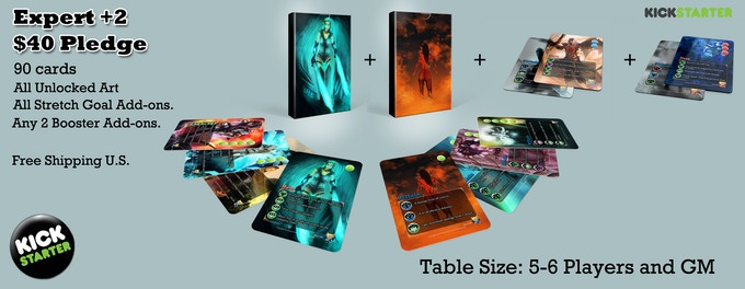 Expert +2 - Expert Set + Any 2 18 card boosters of any type. Good for 5-6 Players of any type