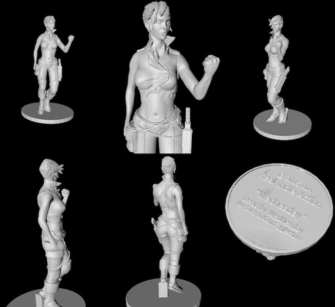 Small statue will measure 3.5-inches and the large statue is 5-inches.