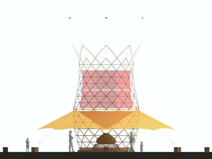 Warka Water 3.1 - Front View - Artistic Illustration