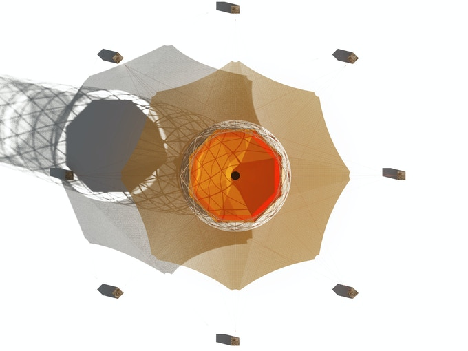 Warka Water 3.1 - Top View - Artistic Illustration