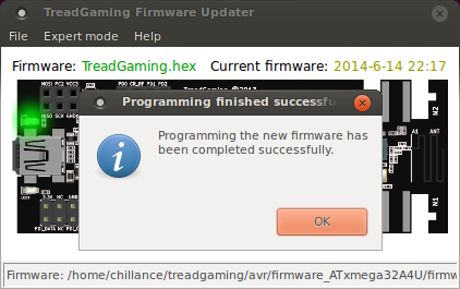 Firmware updated.