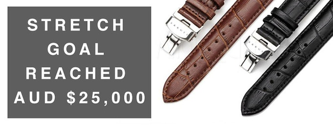 Every backer receives a free deployment clasp strap (black or brown) for each watch ordered. More details below.