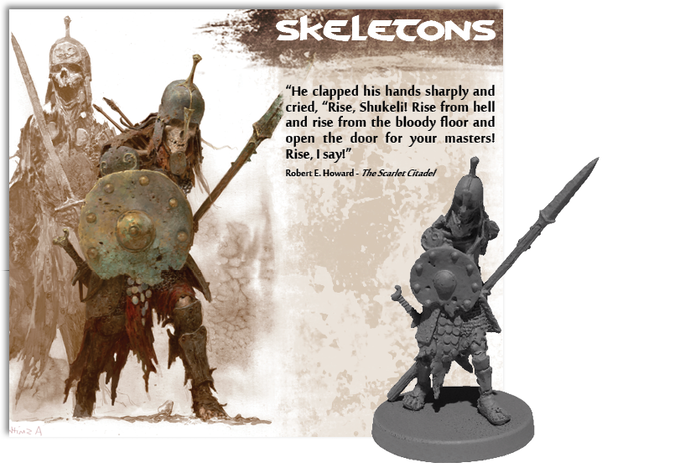 Illustration by Adrian Smith, sculpted by Elfried Perochon