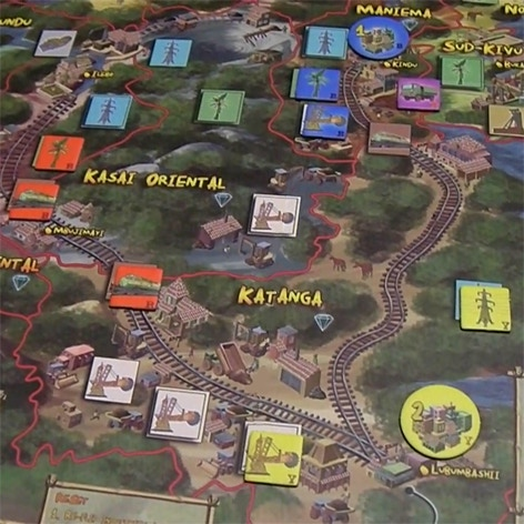 A section of the game board 'in play'.
