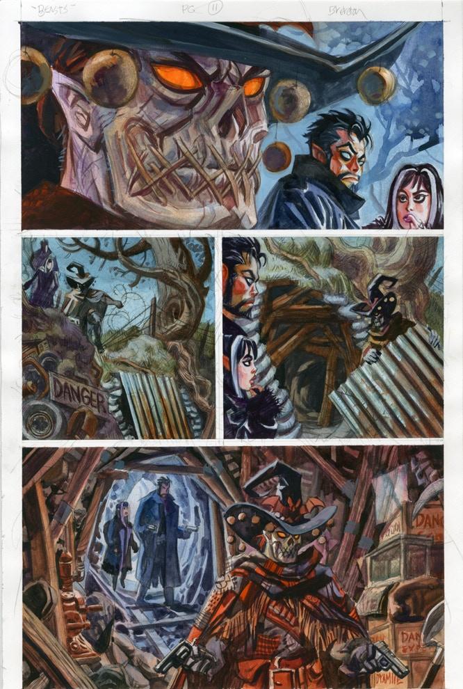 Beasts Page 11 Original Art Reward
