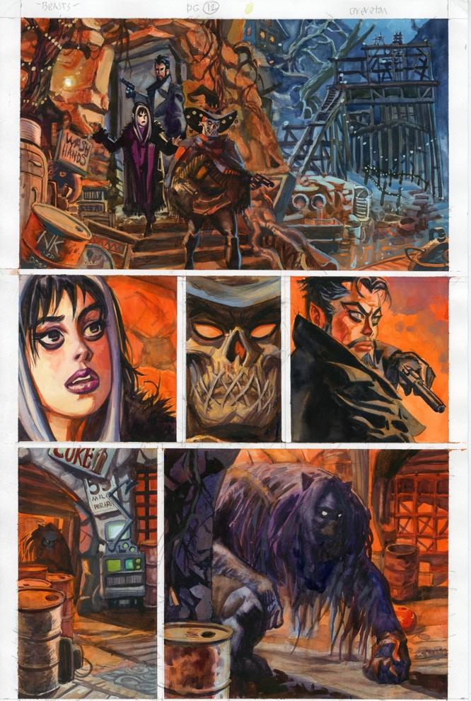 Beasts Page 12 Original Art Reward