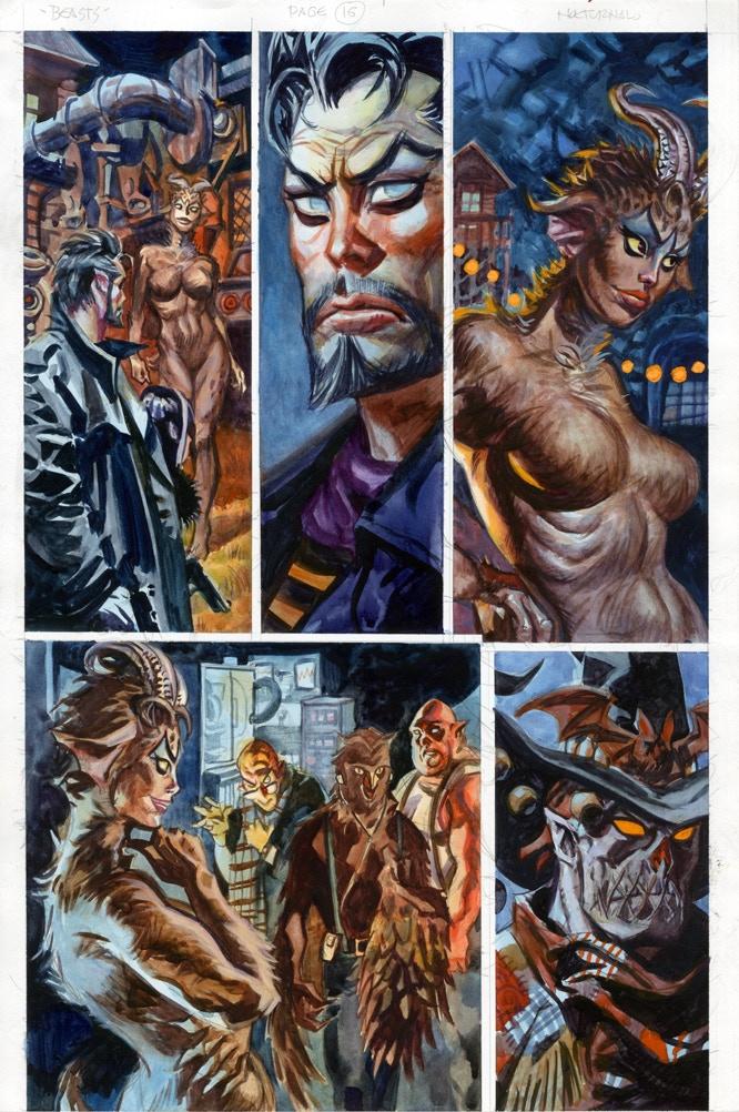 Beasts Page 16 Original Art Reward
