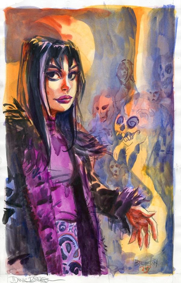 Eve with Ghosts Original Art Reward