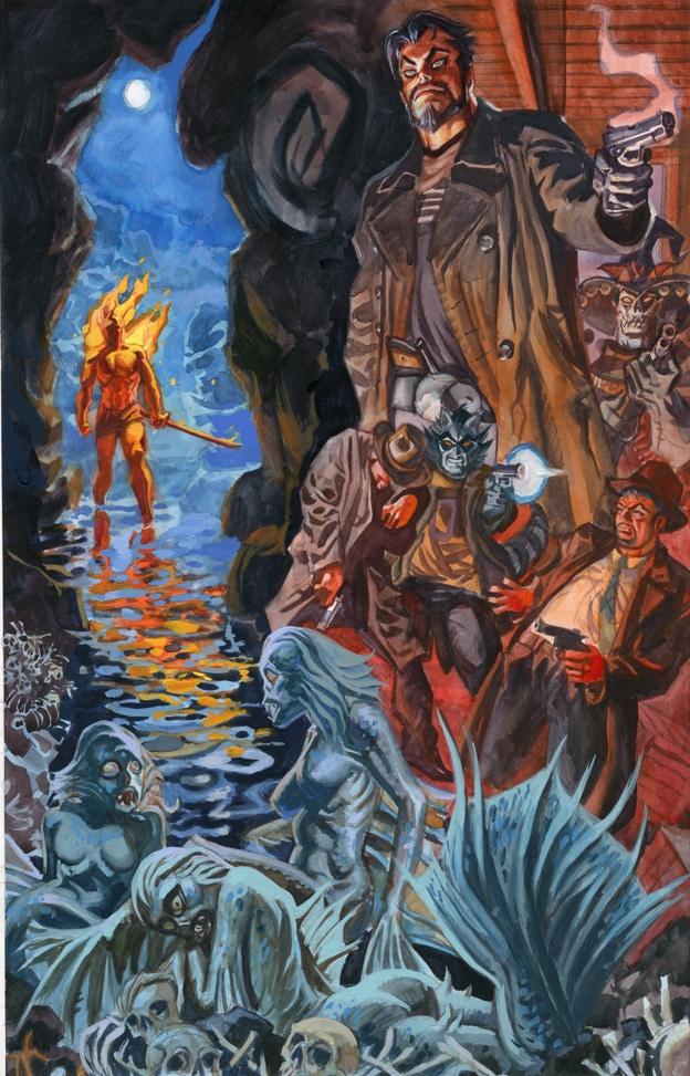 Nocturnals Alphabet Underworld Voices Original Art Reward