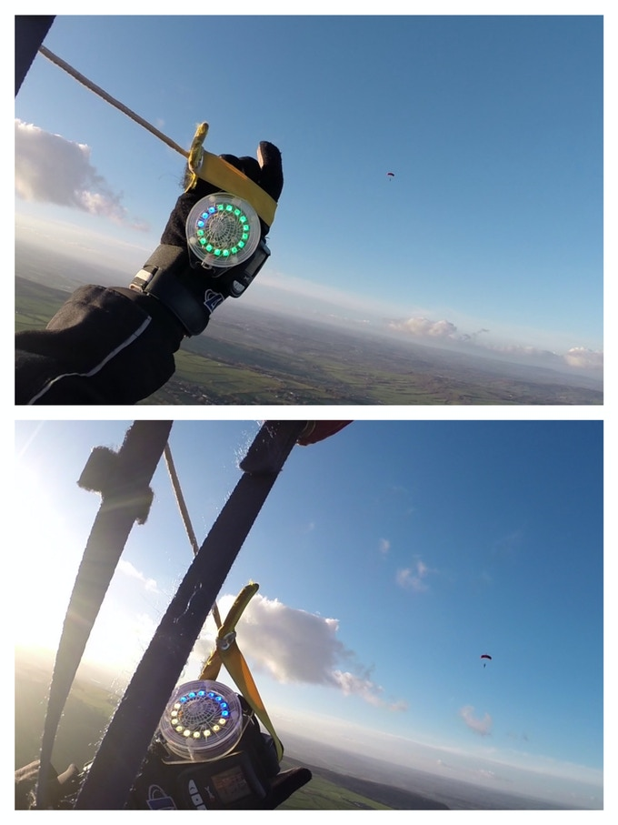 the prototype in Canopy mode (top: 1300 feet, bottom: 900 feet)