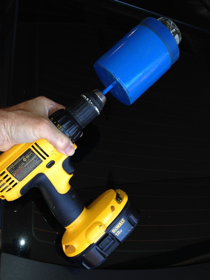 Use your own power drill to make the sanding easy