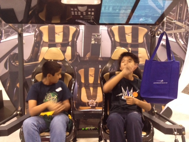 UTS Students on simulator at IAC Conference 2014