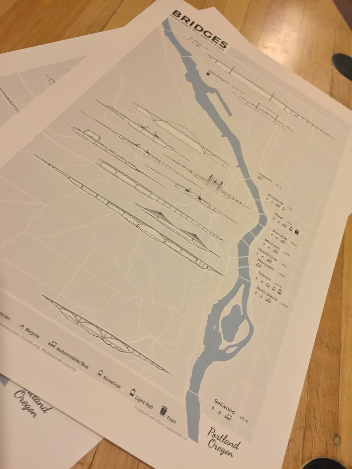 The New Portland Bridge Map by Nick Martinelli » Maps in the