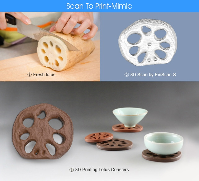 Mimic:scan the objects in nature, get the 3d model to print, make your unique 3D art.