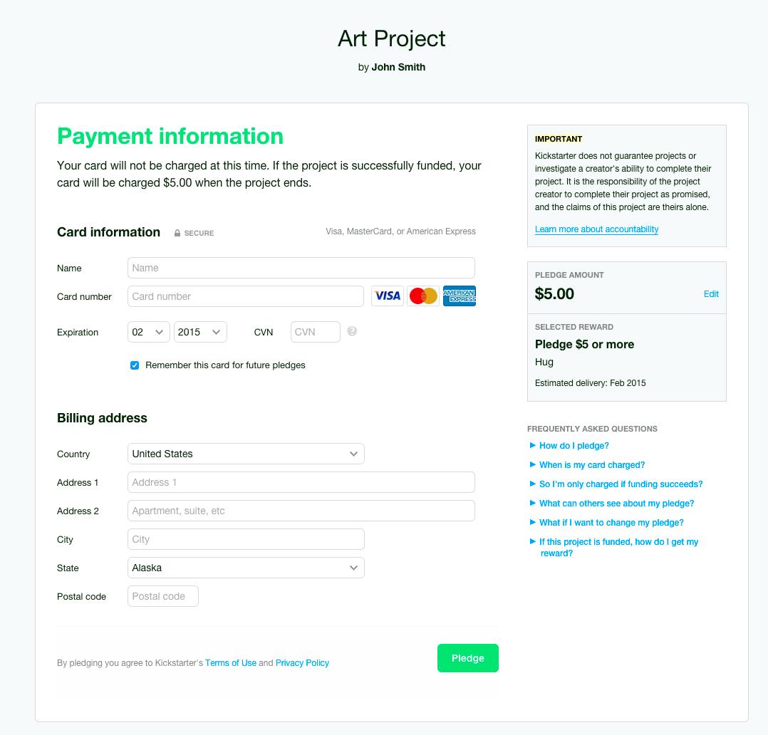 Backer questions – Kickstarter Support