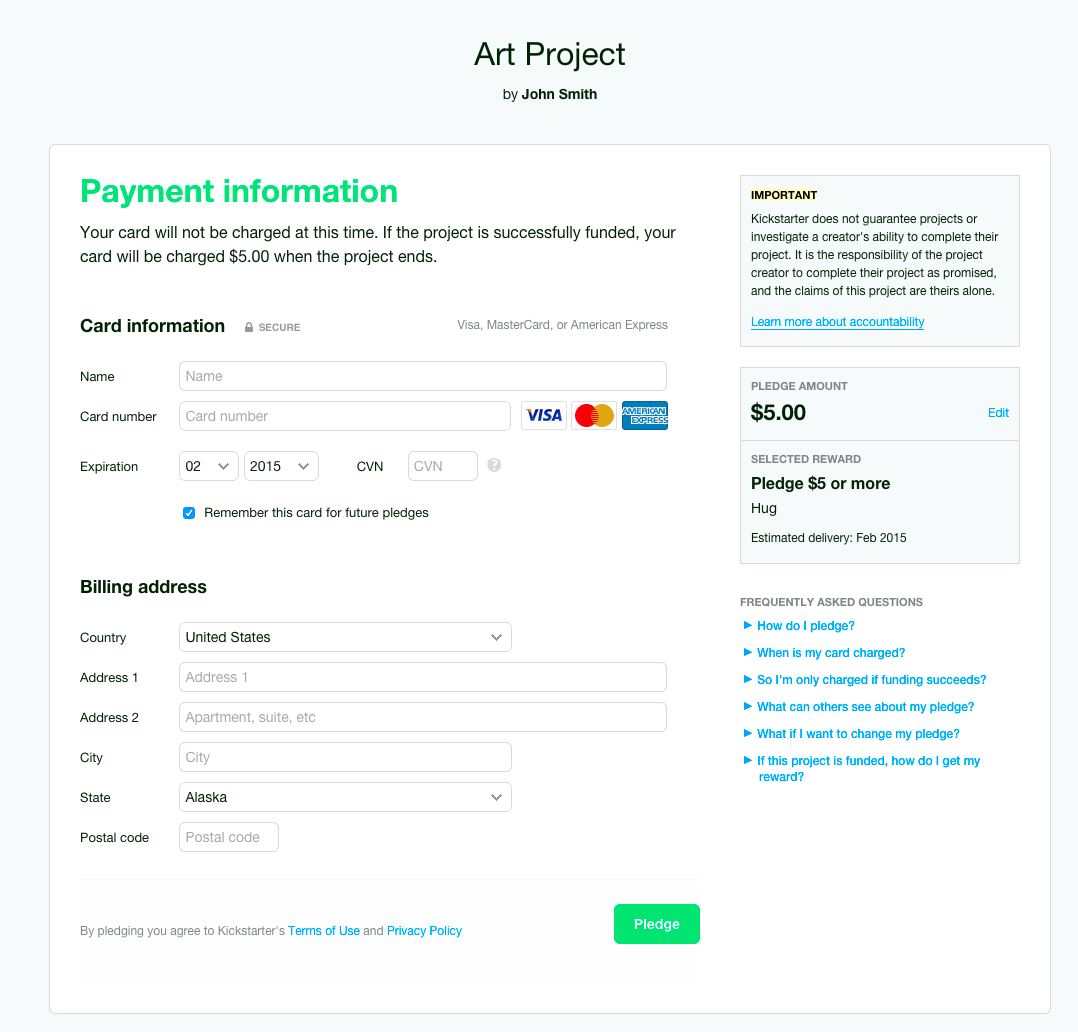 Making Payments Easier for Creators and Backers — Kickstarter