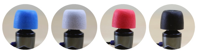 The available colours are blue, grey, red and black