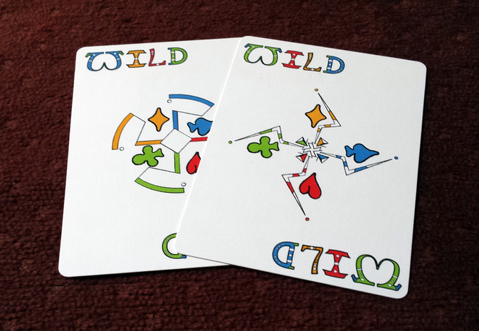 Two wild cards to create your own rules.
