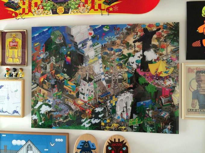 Rio Pixorama at our studio wall (self-published in 2011)