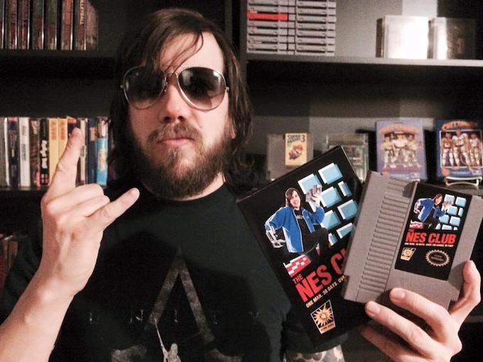 NES Club Replica Box and Cartridge