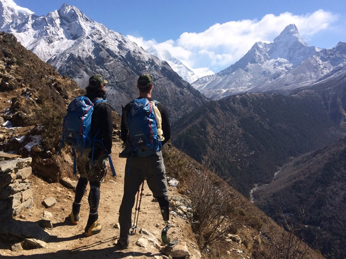 Charlie & Tim Looking At Mt. Everest During the 2014 Expedition