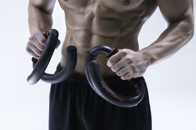 The LEGEND PUSHUP feels solid in your hands