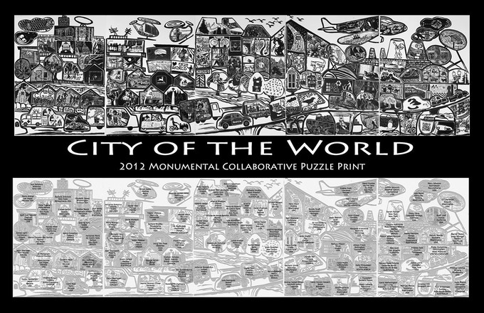 City of the World poster with legend under the image