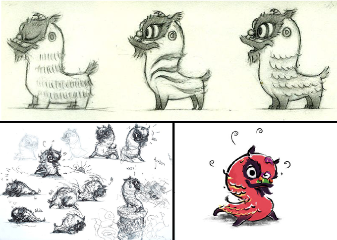 From sketches to final Kwan illustrations by Rosemary Fung