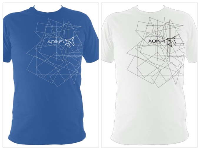t-shirt - blue, white and black versions available.