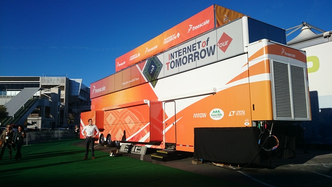 The Freescale IoT truck in which SPIN remote was showcased.