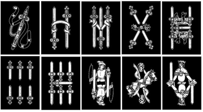Swords suit cards