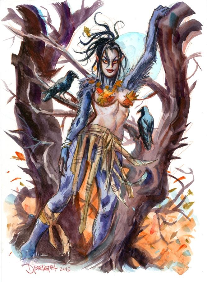 Feral Girl In Tree Reward Art