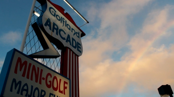 Rainbow at Sunnyvale Golfland - filmed for Touching Sound