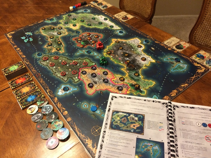 A 2 Player Game Set-Up for Zythen Vs. Freyah