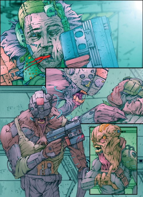 A page from Infection