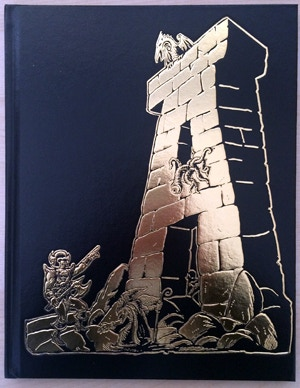"Dungeon Alphabet limited-edition gold foil cover, by Stefan Poag. (Back cover features ""Z""!)"