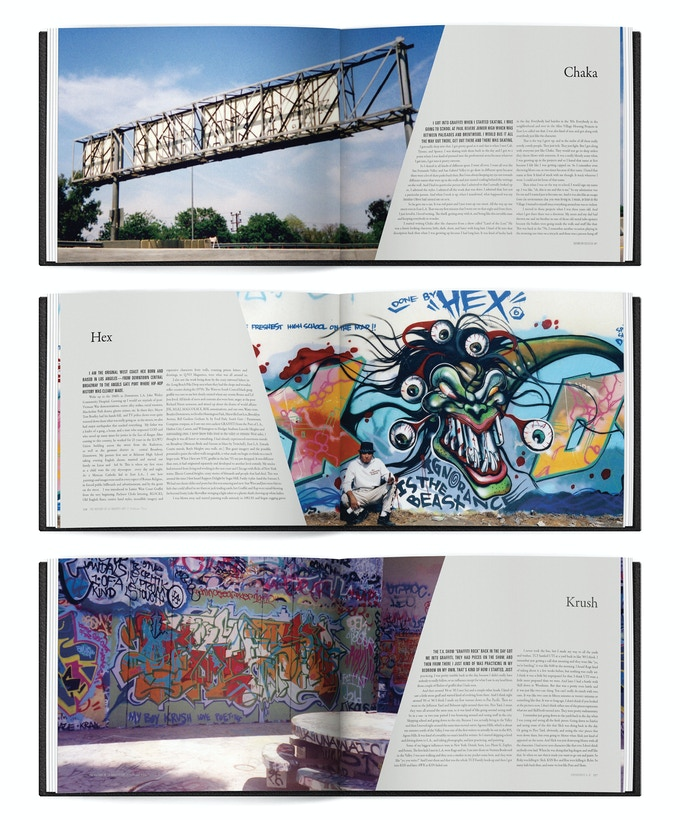 Throughout Volume Two will be transcribed interviews of 70+ artists. These uncensored essays describe Los Angeles and its graffiti scene like no other publications have - through the artists prominent during that era.