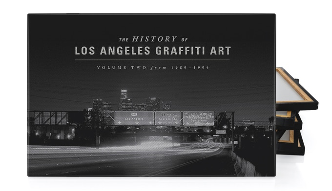 This limited edition canvas print of the the iconic downtown freeway interchange is only available through this Kickstarter project.