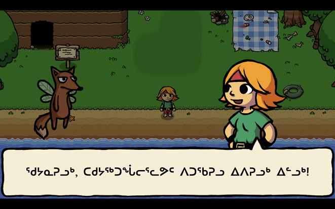 """Pinnguaq's Inuktitut localization of """"Ittle Dew"""" by Ludosity (2014)"""