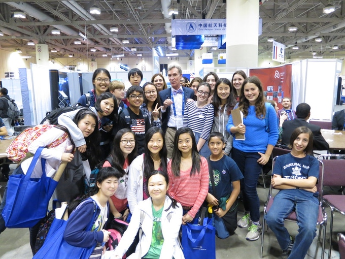 Posing for a picture with the gracious Bill Nye the Science Guy